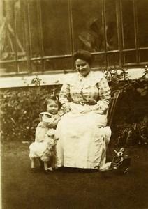 France Poupée Canard Mouton Peluche Jeu d'Enfants Ancienne Photo Amateur 1900