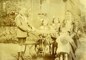 France Garconnet et petit Canon Jouet Famille Ancienne Photo Amateur 1900