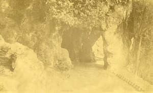 France Lille Jardin Vauban garden Grotto Cave Old Photo Capin 1933