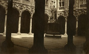 France Lille Vieille Bourse Cloister Statue Old Photo Capin 1933