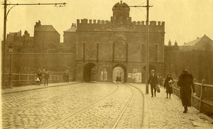 France Lille Porte de Roubaix City Gate Old Photo Capin 1933