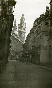 France Lille Stock Exchange seen from Rue Le Pelletier Old Photo Capin 1933