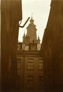 France Lille Stock Exchange seen from Rue du Petit Paon Old Photo Capin 1933
