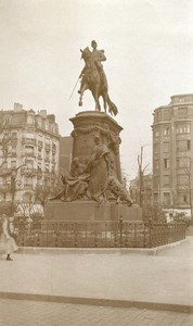 France Lille Faidherbe Monument Equestrian Statue Old Photo Capin 1934