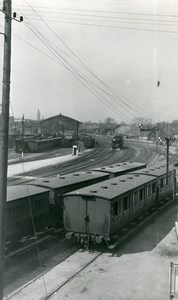 France Lille Train station seen from the upper bridge Old Photo Capin 1934