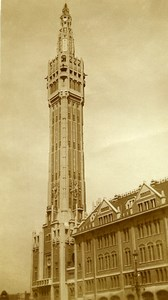 France Lille City Hall Belfry Beffroi Old Photo Capin 1934
