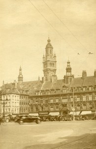 France Lille Vieille Bourse & Nouvelle Bourse Campanile Old Photo Capin 1934