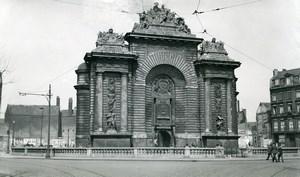 France Lille City Gate Porte de Paris Old Photo Capin 1934