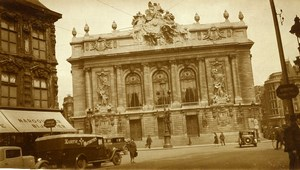 France Lille Opera Shops & Automobiles Old Photo Capin 1934