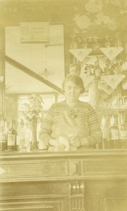 France Lille Estaminet Café André the Landlady at the bar Old Photo Capin 1933