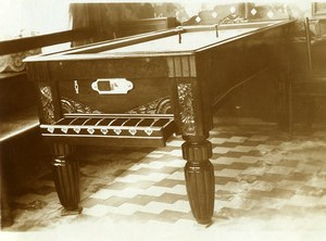 France Lille Billiards Pool Table Estaminet Café André Old Photo Capin 1933