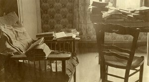 France Lille my student room Lots of books Old Photo Capin 1933