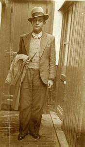 France Lille portrait autoportrait Ancienne Photo Prosper Emile Capin 1934