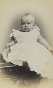 United Kingdom Norwich Baby Portrait Fashion Old CDV Photo Jennings 1870