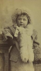 United Kingdom Blandford Young Girl Portrait Fashion Old CDV Photo Nesbitt 1870