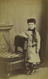 United Kingdom Sleaford Young Girl Portrait Fashion Old CDV Photo Tippins 1870