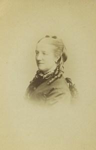 United Kingdom London Woman Portrait Fashion Old CDV Photo Window & Grove 1870