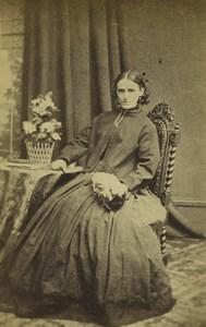 United Kingdom London Woman Portrait Fashion Old CDV Photo Procktor 1870