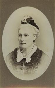 United Kingdom London Woman Portrait Fashion Old CDV Photo Stuart Brothers 1880
