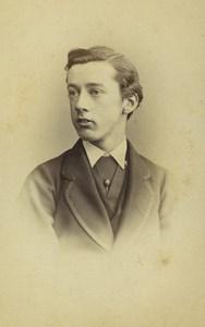 United Kingdom Eton Man Portrait Fashion Old CDV Photo Hills & Saunders 1870