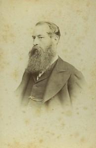 United Kingdom Bristol Man Portrait Fashion Beard Old CDV Photo Holborn 1870