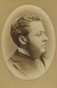 United Kingdom Bradford Man Portrait Fashion Sideburns CDV Photo Appleton 1870
