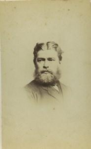 United Kingdom Hull Man Portrait Fashion Beard Old CDV Photo Friston Son 1870