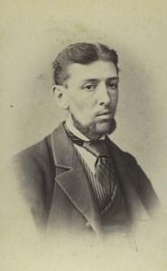 United Kingdom Poole Man Portrait Fashion Old CDV Photo Bishop 1870