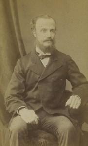 United Kingdom Walworth Man Portrait Fashion Beard Old CDV Photo Willson 1870
