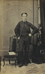 United Kingdom Nottingham Man Portrait Fashion Old CDV Photo Shaw & Sons 1870