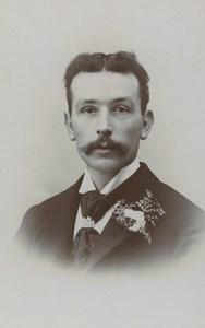 United Kingdom Blandford Man Portrait Fashion Old CDV Photo Oakfield 1900