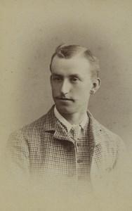 United Kingdom Blandford Man Portrait Fashion Old CDV Photo Nesbitt 1900
