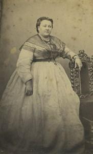 France Paris Woman Portrait Fashion Old CDV Photo Pignolet 1860's