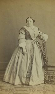France Paris Woman Portrait Fashion Old CDV Photo Dagron 1860