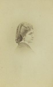 France Paris Woman Portrait Fashion Old CDV Photo Lejeune 1870
