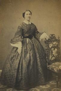 France Boulogne Portrait Féminin Mode Ancienne Photo CDV Louis de Mauny 1870