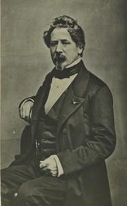 France Paris Man Portrait Fashion Goatee Beard Old CDV Photo Villette 1860's