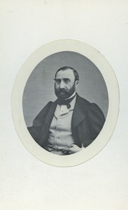 France Paris Bearded Man Portrait Fashion Old CDV Photo D'Orszagh 1860