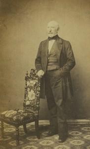 France Boulogne sur Mer Man Portrait Fashion Old CDV Photo De Mauny 1870