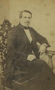 France Lille Man Portrait Fashion Old CDV Photo Le Blondel 1870