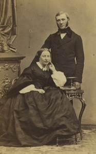 France Paris Couple Portrait Fashion Old CDV Photo Disderi 1860