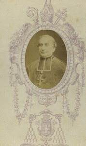 France Besancon Religion Priest Portrait Old CDV Photo Mauvillier 1870