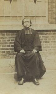 France Religion Portrait Priest Old CDV Photo 1880