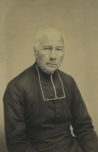 France Saint Omer Religion Priest Portrait Old CDV Photo Belle 1860's