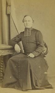 France Le Mans Religion Priest Portrait Old CDV Photo Ferre 1870