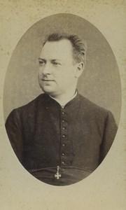 France Toulouse Religion Priest Portrait Old CDV Photo Cousin 1880's