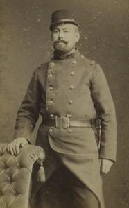 France Melun Army Soldier Portrait Old CDV Photo Darnay 1880