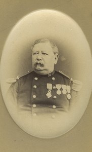 France Dunkerque Army Soldier Portrait Medals Old CDV Photo Malfait 1870