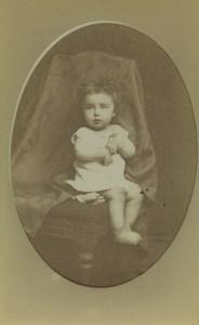 France Millau Baby Child Portrait Old CDV Photo Julien 1890