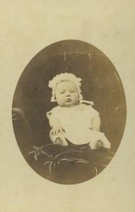 France Rennes Portrait Bébé Enfant Ancienne Photo CDV Gerard 1870